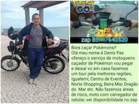 Jogadores do Pokémon Go podem contar com serviço exclusivo de moto taxi