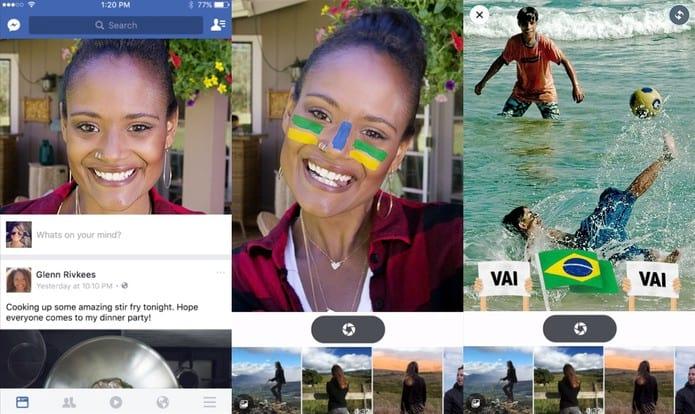 Brasileiros começam a testar versão do app do Facebook mais parecida com o Snapchat