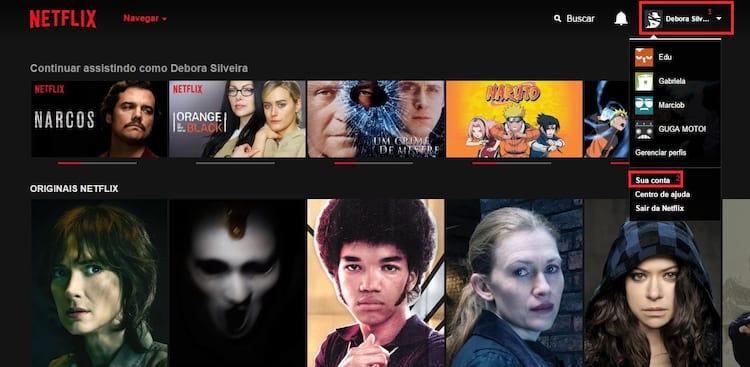 Como excluir o histórico de filmes assistidos na Netflix?