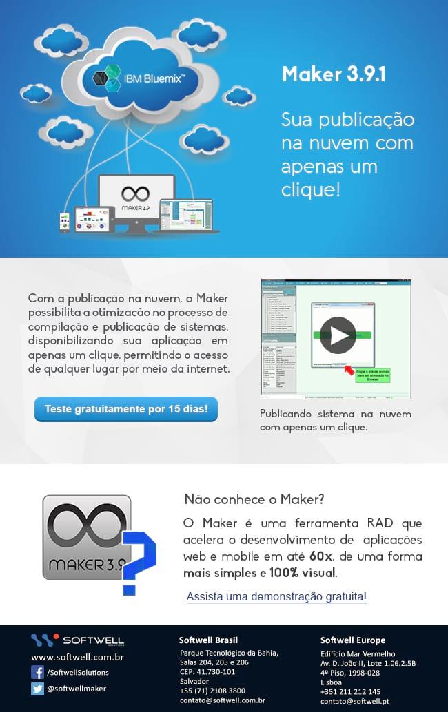 MAKER 3.9 - Publique suas aplicações na nuvem com apenas um clique!