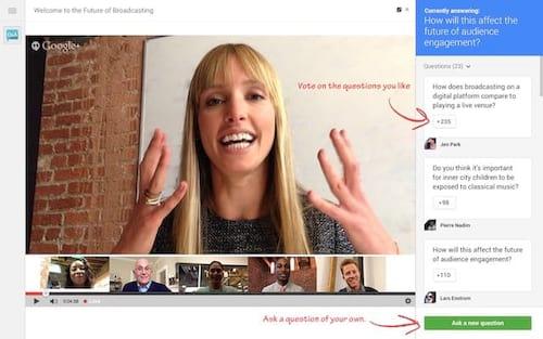 Google finaliza recurso de transmissões ao vivo do Google+