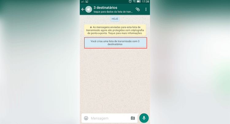 Como enviar mensagens para vários contatos de uma só vez no WhatsApp?