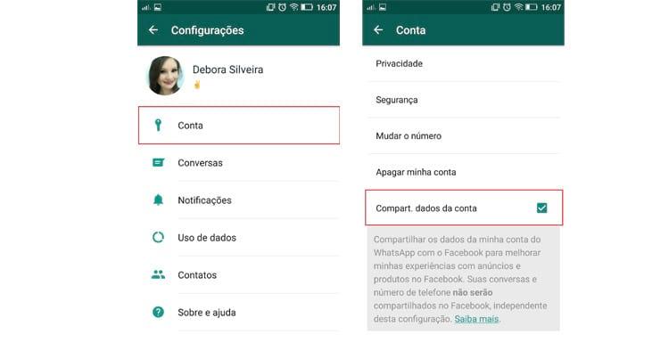 Como bloquear o recurso de compartilhar dados no WhatsApp?