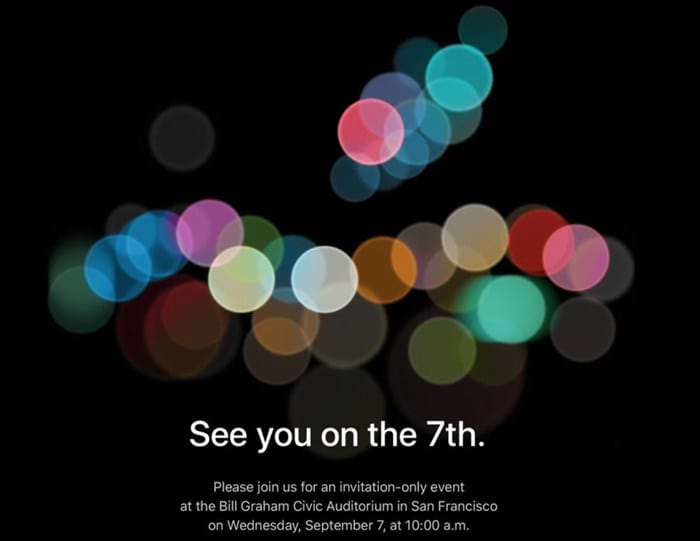 Apple confirma evento para 7 de setembro