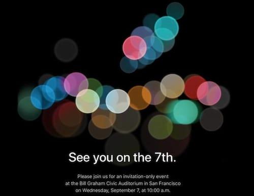 Apple confirma evento para 7 de setembro