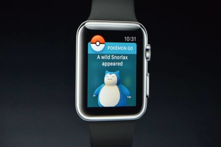 Pokémon Go presente no Apple Watch.