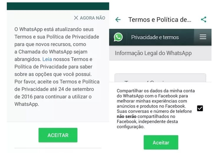 Como impedir WhatsApp de compartilhar dados com Facebook