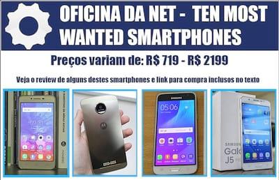 Os 10 smartphones mais procurados pelos brasileiros em Setembro de 2016