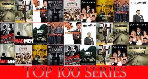 As 100 melhores séries de todos os tempos