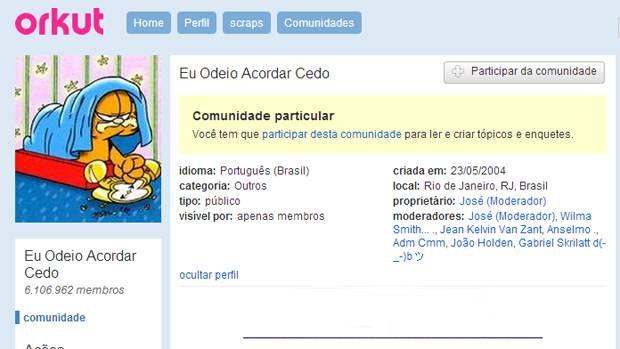 Comunidade foi uma das mais populares do Orkut (Imagem: Reprodução Internet)