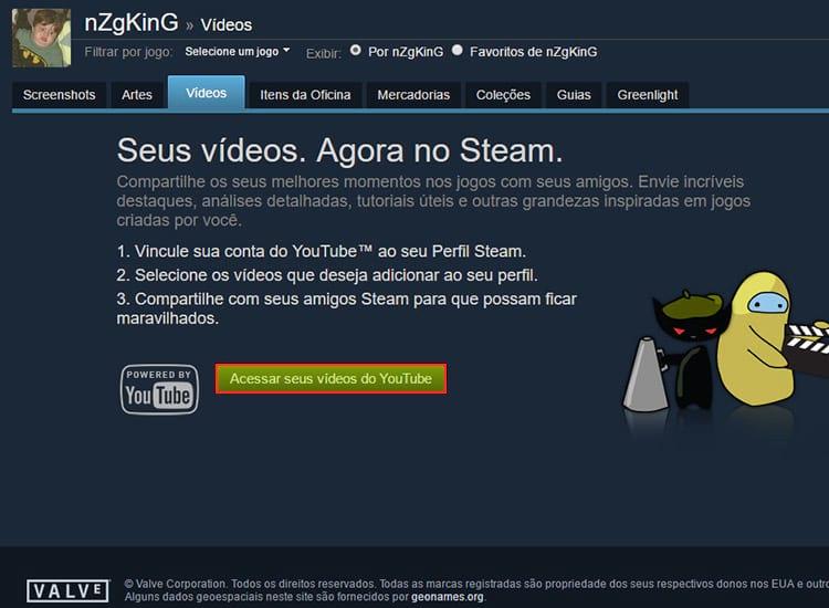 Como adicionar vídeos na Steam?