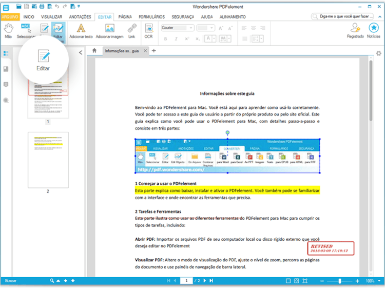 Tire o Máximo de Proveito dos seus Documentos PDF: Wondershare PDFelement Chegou!