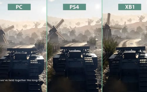Battlefield 1: Confira o comparativo gráfico entre as plataformas PC, PS4 e XBOX One