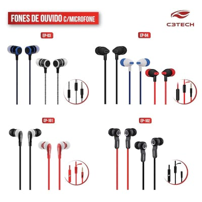 C3 Tech lan�a fones intra-auriculares a pre�os acess�veis
