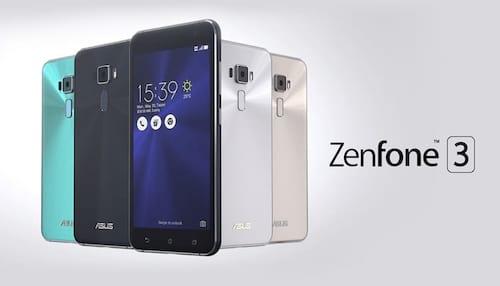 Comparativo das versões do Zenfone 3