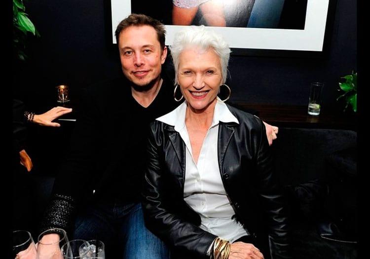 Elon e sua mãe, Maye Musk