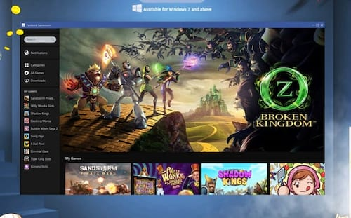 Facebook lança plataforma de games