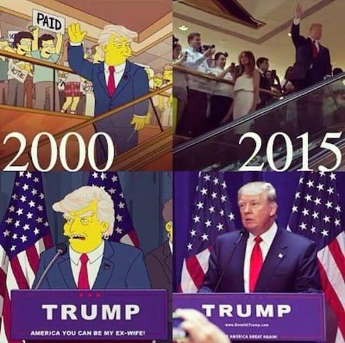 Os Simpsons estavam certos: Trump será o novo presidente dos EUA