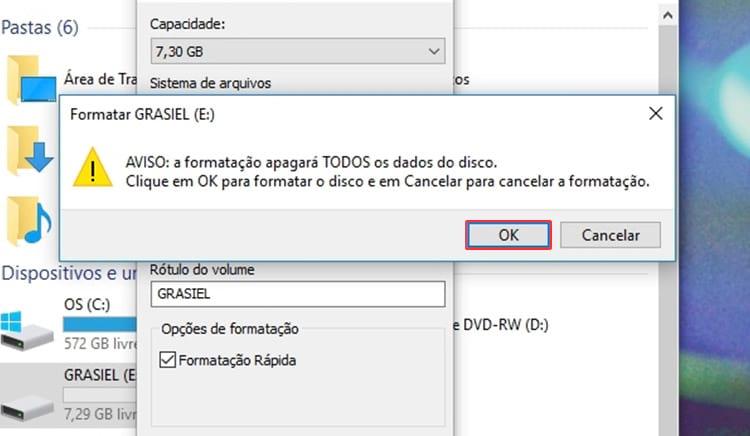 Como formatar um pendrive para NTFS ou FAT?