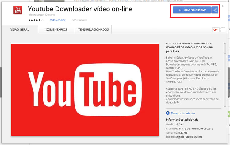 Como baixar vídeos do Youtube com extensão do Chrome?