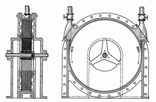 Turbina de Tesla criada para competir com o motor de pistão Imagem: Reprodução/Internet)