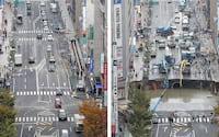 Vídeo acelerado mostra como o Japão consertou o buraco gigante em menos de 1 semana