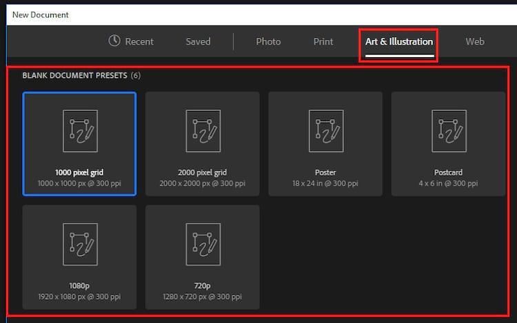 Photoshop CC 2017 - Novo 'New Document' e como reativar a versão antiga