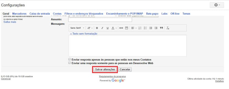 Como cancelar um e-mail já enviado no Gmail