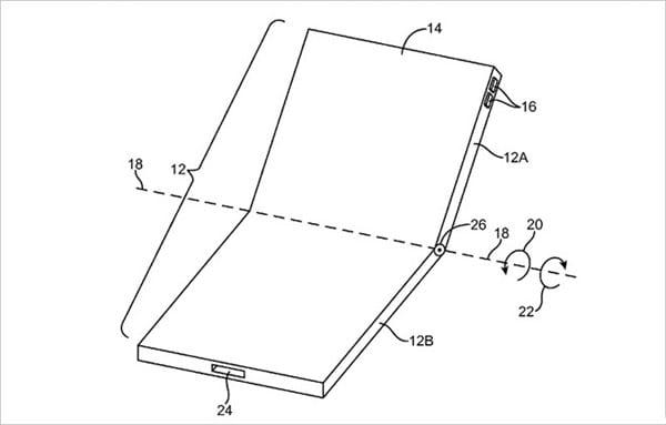 Apple também conta com patente de smartphone dobrável