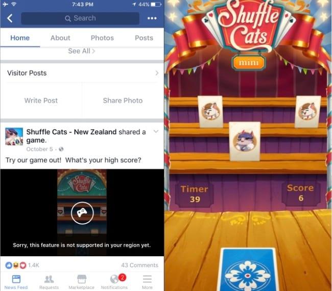 Facebook disponibiliza games para o Messenger. Novidade chega para 30 países. A função deverá ser lançada para os demais ao longo do tempo.