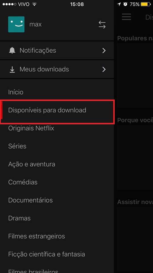 Não consigo baixar vídeos pela Netflix. O que pode estar acontecendo?