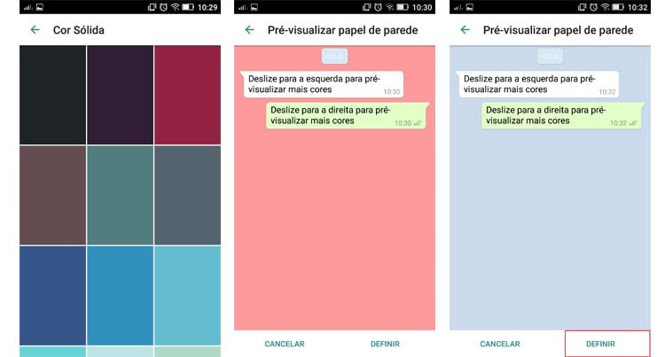 Como mudar a cor da tela de fundo do WhatsApp