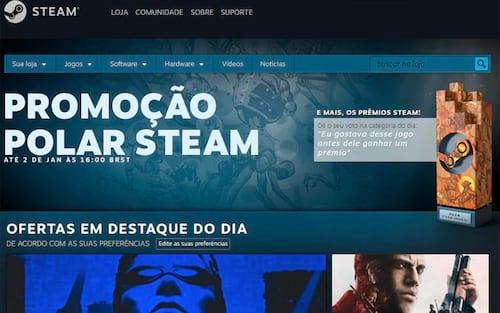 Até hoje a promoção de inverno da Steam