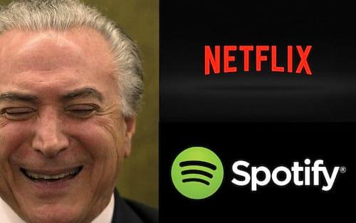Lei que taxa serviços como Netflix e Spotify foi sancionada por Temer