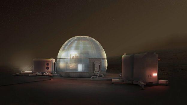 Casa poderá servir de abrigo para astronautas que precisam passar dias no Planeta Vermelho.