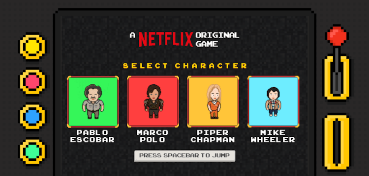 Netflix lança jogo com personagens de suas séries