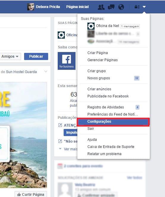 Como bloquear convites para jogos e eventos no Facebook