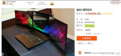 Protótipo da Razer furtado na CES aparece à venda em site chinês