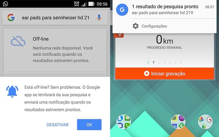 Google via smartphone permite pesquisa sem conexão