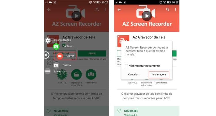 Como gravar a tela do smartphone?