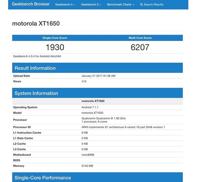 Moto Z (2017) aparece em teste de benchmark com Processador Snapdragon 835