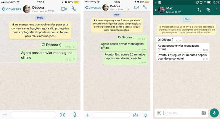 Donos de iPhone finalmente podem enviar mensagens no WhatsApp mesmo sem internet