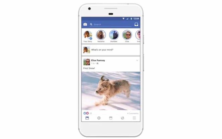 Facebook contará também com função Stories