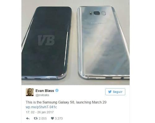Vaza primeira imagem do Galaxy S8