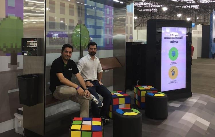 Ponto de ônibus 2.0 da Campus Party 2017 pode medir número de pessoas e até gerar energia