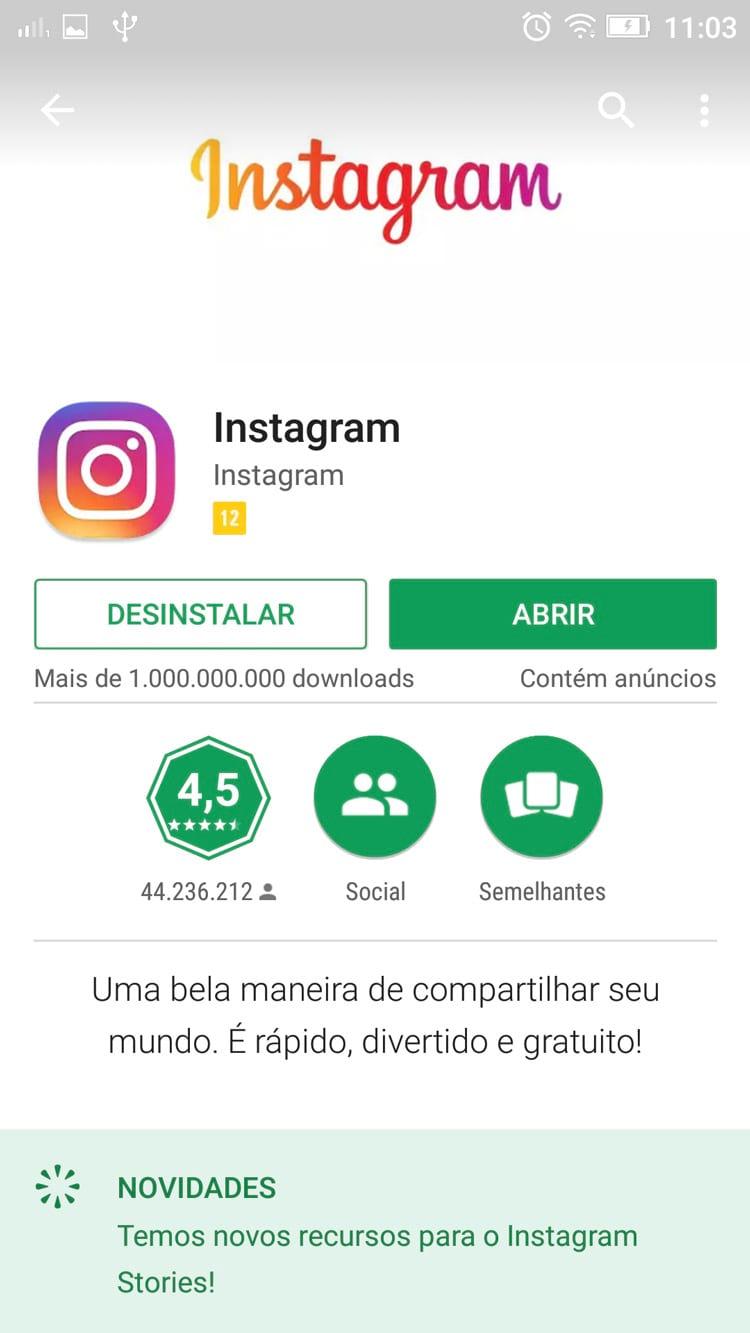 Como compartilhar fotos do Instagram pelo WhatsApp