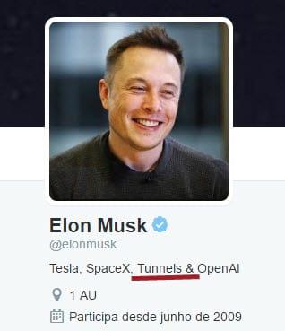 Seriam os túneis a nova empreitada de Musk?