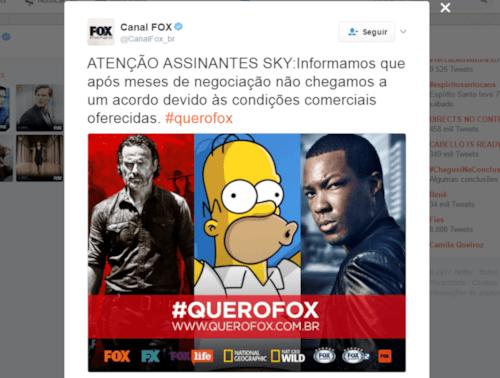 Clientes da Sky tem direito a desconto por cortes nos canais Fox