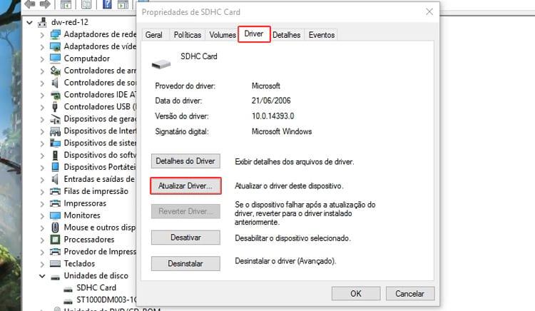 Cartão de memória bloqueado, como resolver?