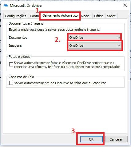 Como configurar o PC para sugerir automaticamente o OneDrive